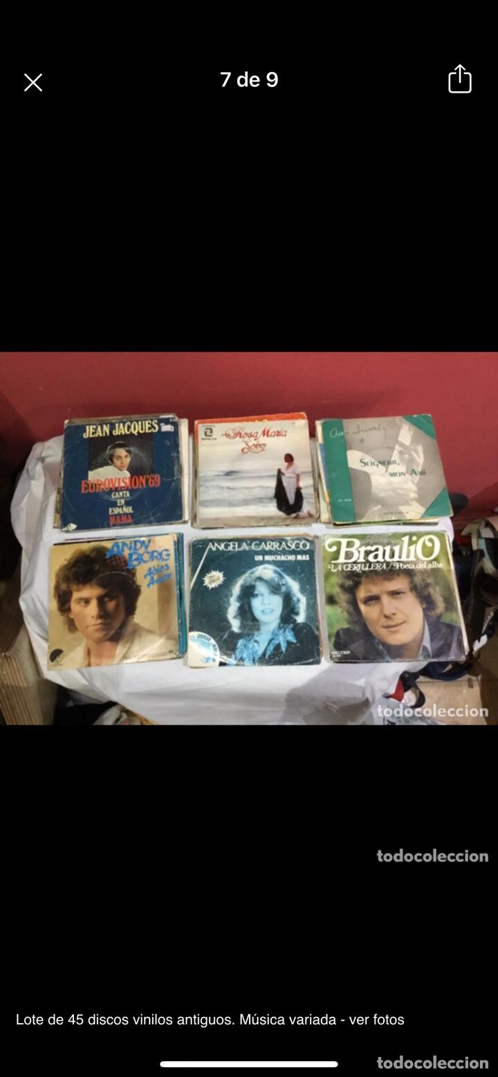 Discos de vinilo: Lote de 45 discos vinilos antiguos. Música variada - ver fotos - Foto 7 - 255380525