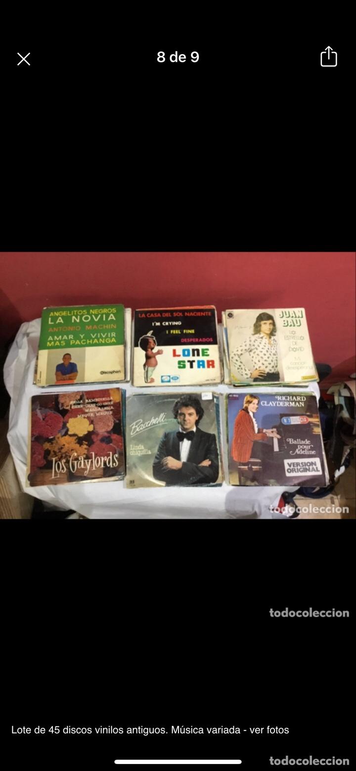 Discos de vinilo: Lote de 45 discos vinilos antiguos. Música variada - ver fotos - Foto 8 - 255380525