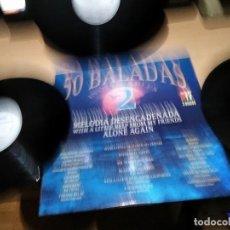 Dischi in vinile: 50 BALADAS INOLVIDABLES 2 - LP 3DISCOS 1992. Lote 255392025