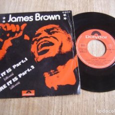 Discos de vinilo: JAMES BROWN. THERE IT IS PART.1 // THERE IT IS PART.2 1972. PROBADO.. Lote 253695130