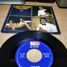 Discos de vinilo: LOS PAYOS - MARIA ISABEL / COMPASION - SINGLE 1969. Lote 255398400