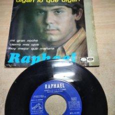 Disques de vinyle: RAFAEL - DIGAN LO QUE DIGAN - EP 1967. Lote 255399365