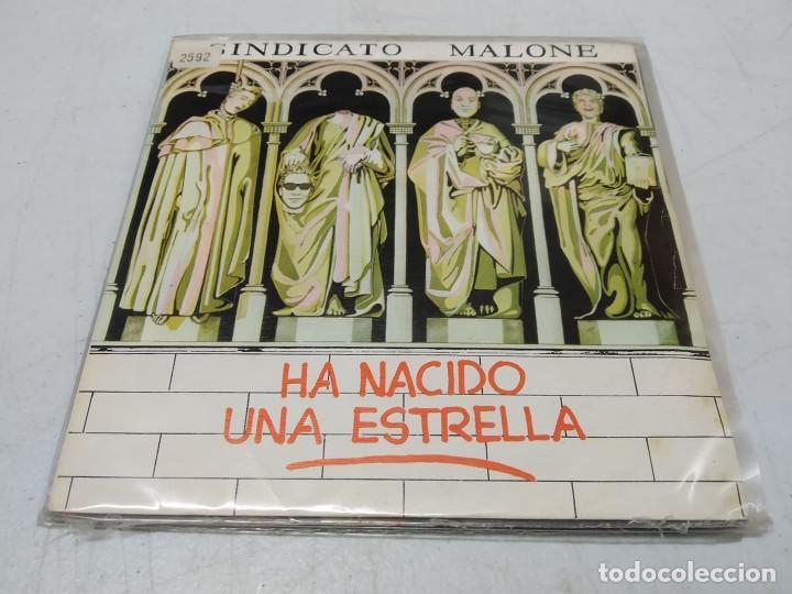 SINDICATO MALONE - HA NACIDO UNA ESTRELLA -SINGLE PROMO-- (Música - Discos - Singles Vinilo - Grupos Españoles de los 70 y 80)