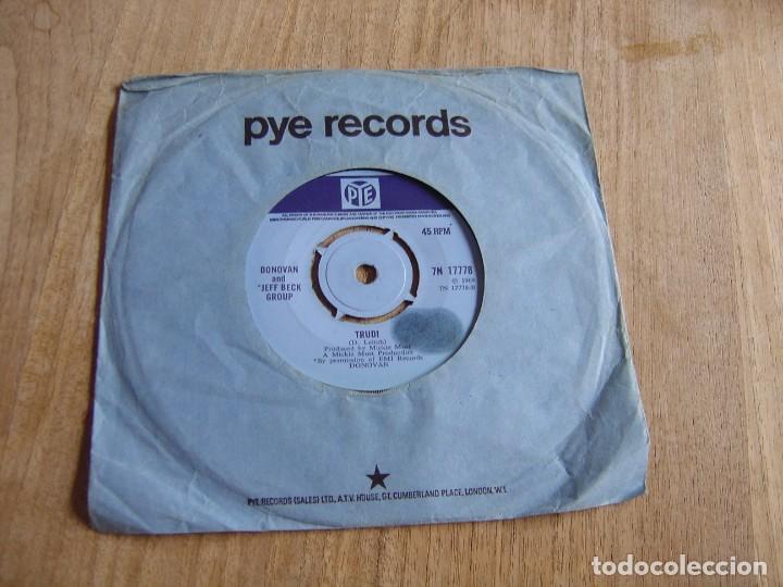 Discos de vinilo: DONOVAN - BARABAJAGAL / TRUDY - ENGLAND - PYE 1969. PROBADO - Foto 2 - 255413740
