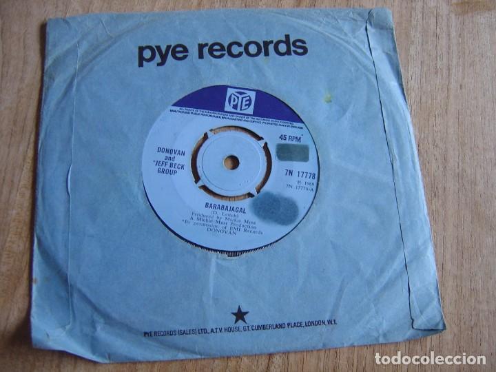 Discos de vinilo: DONOVAN - BARABAJAGAL / TRUDY - ENGLAND - PYE 1969. PROBADO - Foto 3 - 255413740