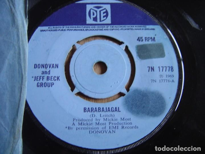 Discos de vinilo: DONOVAN - BARABAJAGAL / TRUDY - ENGLAND - PYE 1969. PROBADO - Foto 4 - 255413740