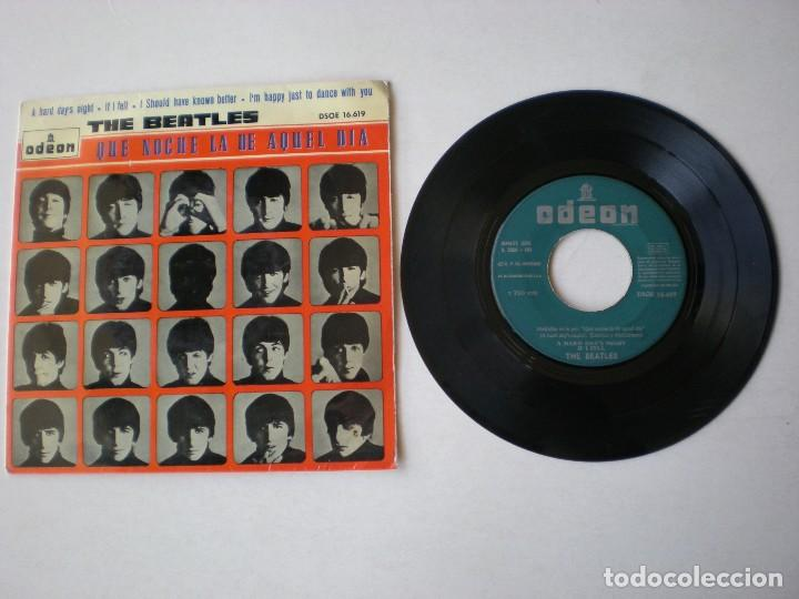 THE BEATLES - A HARD DAY'S NIGHT + 3 ODEON DSOE 16619 -EP PORTADA NARANJA ETIQUETA LABEL VERDE ORIG. (Música - Discos de Vinilo - EPs - Pop - Rock Internacional de los 50 y 60)