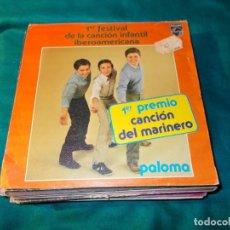 Discos de vinilo: 1º FESTIVAL DE LA CANCION INFANTIL IBEROAMERICANA. 1º PREMIO CANCION MARINERO. 1979. Lote 255423230