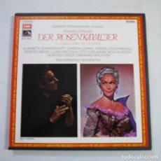 Discos de vinilo: RICHARD STRAUSS. DER ROSENKAVALIER / EL CABALLERO DE LA ROSA - KARAJAN - BOX CON 4 LP+LIBRETO+DIPTIC. Lote 255427790