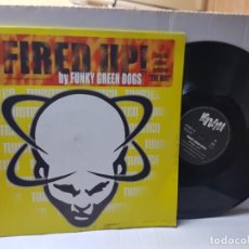 Discos de vinilo: LP 33-FUNKY GREEN DOGS-FIRED UP EN FUNDA ORIGINAL 1996. Lote 255431715
