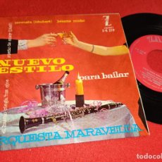 Discos de vinilo: ORQUESTA MARAVELLA NUEVO ESTILO PARA BAILAR.SERENATA/BESAME MUCHO +2 EP 7'' 1961 ZAFIRO. Lote 255437540