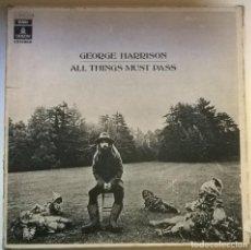 Discos de vinilo: GEORGE HARRISON. ALL THINGS MUST PASS. EMI-ODEON 1 J 154-04.707/9, SPAIN 1970 CAJA 3 LP + ENCARTES. Lote 255453605