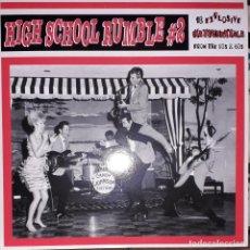 Discos de vinilo: L.P. VARIOUS - HIGH SCHOOL RUMBLE VOLUME #2 (18 EXPLOSIVE INSTRUMENTALS FROM THE 50S & 60S. Lote 255472135
