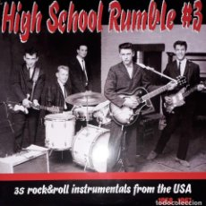 Discos de vinilo: L.P. VARIOUS - HIGH SCHOOL RUMBLE VOLUME #3 (35 ROCK & ROLL INSTRUMENTALS FROM THE USA (1958-1959). Lote 255472575