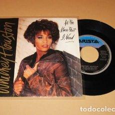 Discos de vinilo: WHITNEY HOUSTON - ALL THE MAN THAT I NEED - SINGLE - 1990 - SPAIN. Lote 255476160