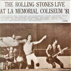 Discos de vinilo: THE ROLLING STONES - THE ROLLING STONES LIVE AT LA MEMORIAL COLISEUM '81. Lote 255491975