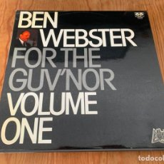 Disques de vinyle: BEN WEBSTER – FOR THE GUV'NOR VOLUME ONE (LP - 1981). Lote 255496340