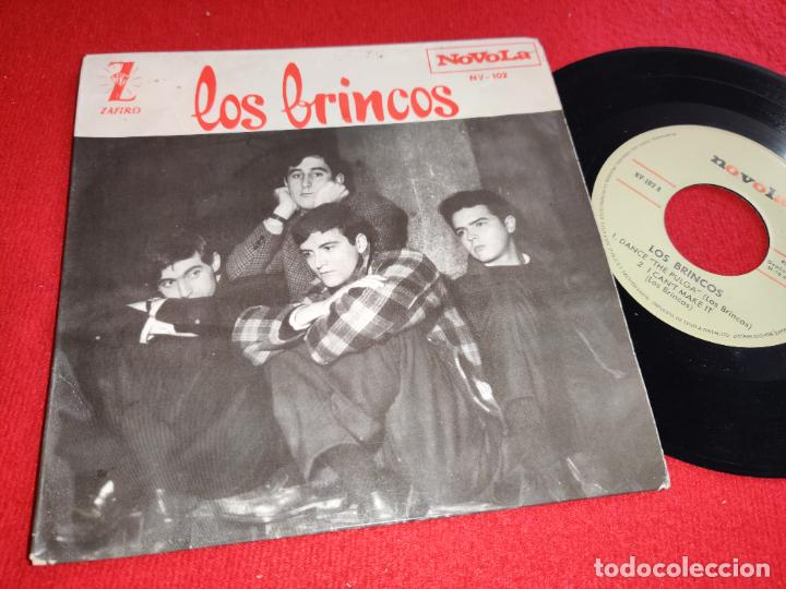 LOS BRINCOS DANCE THE PULGA/I CAN'T MAKE IT/SHAG IT/I'M NOT BAD EP 7'' 1964 NOVOLA (Música - Discos de Vinilo - EPs - Grupos Españoles 50 y 60)