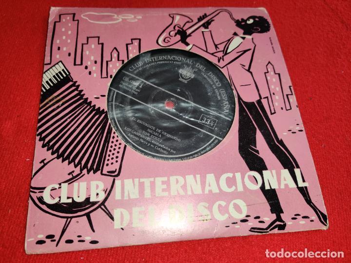 LOS CAMPANTES & ANTONIO MOYA CONJUNTO EL ESCONDITE DE HERNANDO/MICAELA +4 EP 7'' 1960 CID (Música - Discos de Vinilo - EPs - Grupos Españoles 50 y 60)