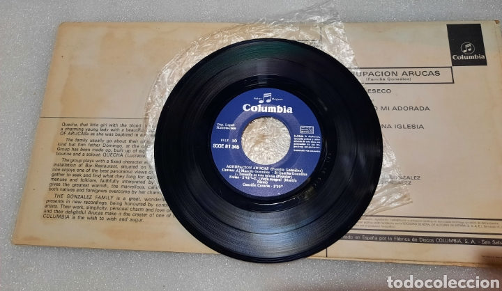 Discos de vinilo: Agrupacion Arucas. Familia González - lindo Valleseco + 3 - Foto 2 - 255516290
