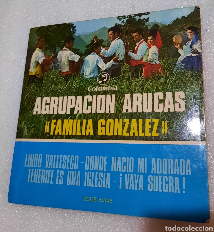AGRUPACION ARUCAS. FAMILIA GONZÁLEZ - LINDO VALLESECO + 3 (Música - Discos de Vinilo - EPs - Country y Folk)