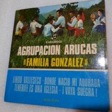 Discos de vinilo: AGRUPACION ARUCAS. FAMILIA GONZÁLEZ - LINDO VALLESECO + 3. Lote 255516290