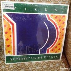 Discos de vinilo: VIRUS - SUPERFICIES DE PLACER - LP 180G COMO NUEVO ROCK ARGENTINO. Lote 255517300