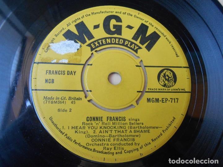 Discos de vinilo: CONNIE FRANCIS - ROCK N´ ROLL MILLION SELLERS -, EP, TWEEDLE DEE + 3 , AÑO 19?? MADE IN GT. BRITAIN - Foto 3 - 255522295