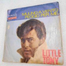 Discos de vinilo: LITTLE TONY - MULINO A VENTO. Lote 255529050