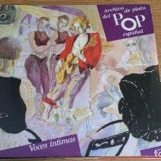 Discos de vinilo: *** ARCHIVO DE PLATA DEL POP ESPAÑOL - VOCES INTIMAS - DOBLE LP AÑO 1989 - LEER DESCRIPCIÓN. Lote 255533435