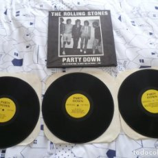 Discos de vinilo: ROLLING STONES 3 LP BOX RARE PARTY DOWN LIVE MUY BUEN ESTADO. Lote 255546020