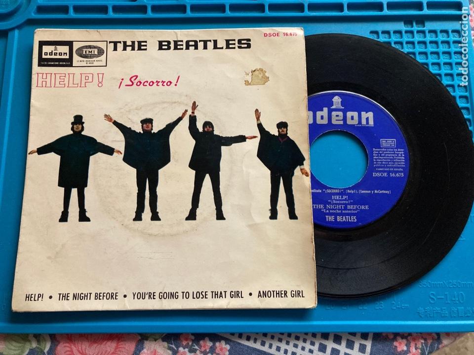 THE BEATLES - HELP / THE NIGHT BEFORE + TRES TEMAS EMI ODEON - 1965 SINGLE (Música - Discos - Singles Vinilo - Pop - Rock Internacional de los 50 y 60)