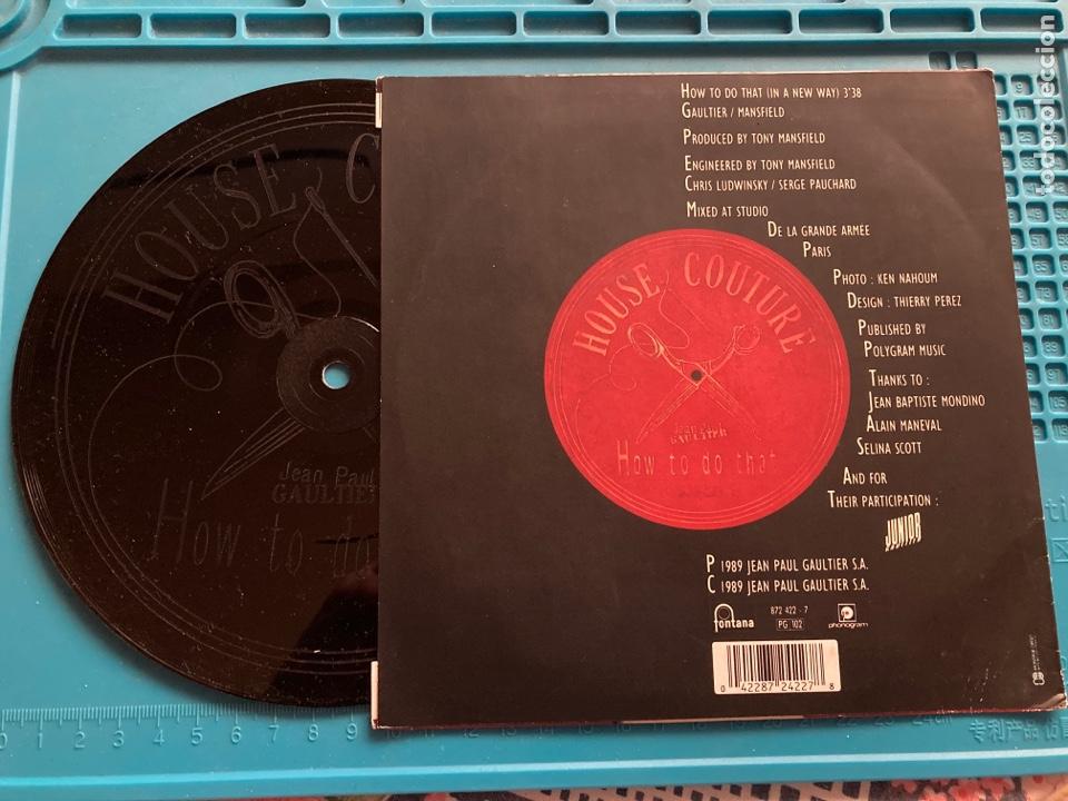 Discos de vinilo: Jean Paul Gaultier. How to do that (in a New day). Single 1989 - Foto 2 - 255552370