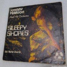 Discos de vinilo: JOHNNY PEARSON & HIS ORCHESTRA - SLEEPY SHORES. Lote 255557325