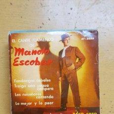 Discos de vinilo: MANOLO ESCOBAR 14 SINGLES TODP FOTOGRAFIADO. Lote 255572750