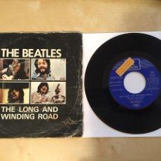 "Discos de vinilo: THE BEATLES - THE LONG AND WINDING ROAD - PROMO RADIO SINGLE 7"" - 1970. Lote 255583855"