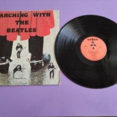 Discos de vinilo: RARO LP MARCHING WITH THE BEATLES EDICIÓN PORTUGUESA AÑO 1975. SELLO ORFEU SUPER BUDGET SB 1176. Lote 255600475