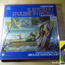 Discos de vinilo: MONTEVERDI: IL RITORNO D'ULYSSE IN PATRIA (CONCENTUS MUSICUS VIENA.DIR:NIKOLAUS HARNONCOURT) BOX 4LP. Lote 255608760
