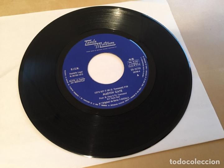 "Discos de vinilo: Marvin Gaye - Let's Get It On - SINGLE RADIO 7"" - 1973 Tamla Motown SPAIN - Foto 2 - 255620475"