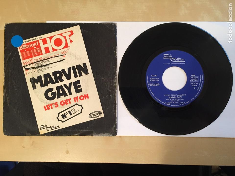 "MARVIN GAYE - LET'S GET IT ON - SINGLE RADIO 7"" - 1973 TAMLA MOTOWN SPAIN (Música - Discos - Singles Vinilo - Funk, Soul y Black Music)"