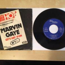 "Discos de vinilo: MARVIN GAYE - LET'S GET IT ON - SINGLE RADIO 7"" - 1973 TAMLA MOTOWN SPAIN. Lote 255620475"
