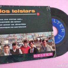 Discos de vinilo: LOS TELSTARS NO ME MIRES ASI / CAMBIE DE AMOR / EL AMOR ES DIVERTIDO +1 EP 1966 BELTER. Lote 255625000