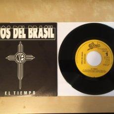 """Discos de vinilo: NIÑOS DEL BRASIL - EL TIEMPO - PROMO SINGLE RADIO 7"""" - 1990 EPIC SPAIN. Lote 255625080"""