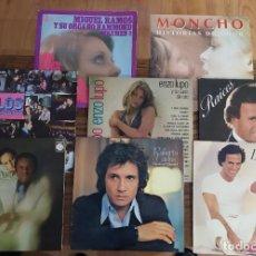 Discos de vinilo: LOTE 8 DISCOS LP DE VINILO JULIO IGLESIAS (RAÍCES LIBRA) ROBERTO CARLOS BASILIO MONCHO LOS PEKENIKES. Lote 255628355