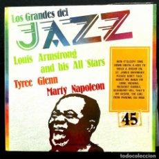 Disques de vinyle: LP LOS GRANDES DEL JAZZ Nº 45: LOUIS ARMSTRONG, TYREE GLENN, M. NAPOLEON, SARPE, 1980. EXCELENTE.. Lote 255634900