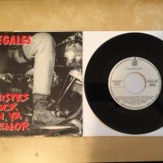 "Discos de vinilo: ILEGALES - CHISTES ROCK EN YA MENOR - SINGLE RADIO 7"" - 1990 HISPAVOX SPAIN. Lote 255637770"
