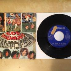"""Discos de vinilo: LOS SALVAJES - PLATILLOS VOLANTES - PROMO SINGLE RADIO 7"""" - 1968 SPAIN. Lote 255639050"""