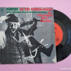 Discos de vinilo: TOPOL SI YO FUERA RICO SINGLE VINYL MADE IN SPAIN 1971. Lote 255643580