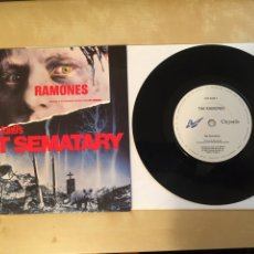 "Discos de vinilo: RAMONES - PET SEMATARY (STEPHEN KING'S) - SINGLE RADIO 7"" - 1989 CHRYSALIS UK - MUY RARO. Lote 255645550"