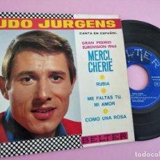 Discos de vinilo: UDO JURGENS - MERCI CHERIE +3 - CANTA EN ESPAÑOL EUROVISION 1966 RARO EP ESPAÑOL. Lote 255647465